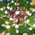 ensaladaespinacas portada - Ensalada de espinacas crudas con champiñones, queso de cabra y vinagreta de miel