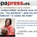 """europapress nueva maternidad - Me entrevistan en Europapress sobre el libro """"Una Nueva Maternidad"""""""