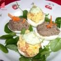 huevos2 - Huevos rellenos vegetarianos: dos colores, dos sabores
