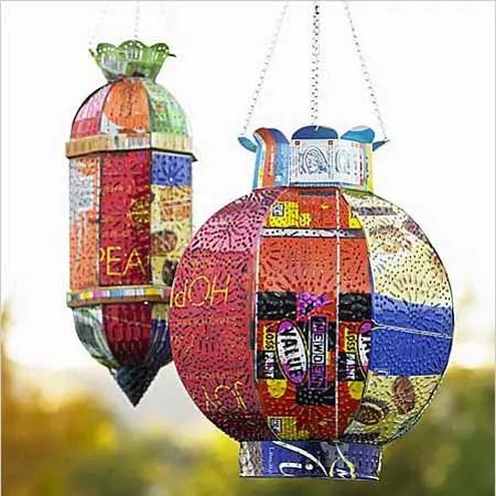 jardin latas - latas recicladas para el jardin