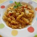 pasta con col y champiñones - Receta de espirales (de maíz) con col, verduritas y salsa de soja