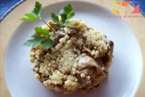quinoa con setas - Receta de quinoa con setas al ajillo