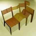 sillas juntas - Una silla extensible para compartir