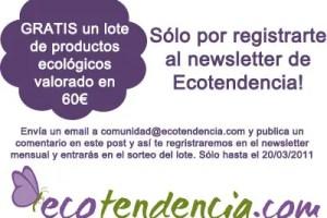 sorteo lote blogalternativo - SORTEO de un lote de productos ecológicos de ECOTENDENCIA