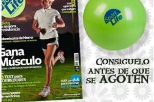 sportlife - Pelota gigante con la revista Sport Life por 6,95 euros. Adecuada para hacer deporte, Pilates, para el embarazo, para el PARTO y para jugar