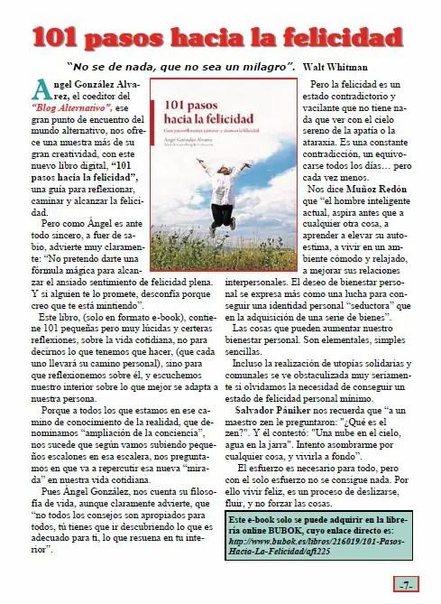 101 pasos - Quitapesares nº 13: revista de cultura espiritual y vivencial