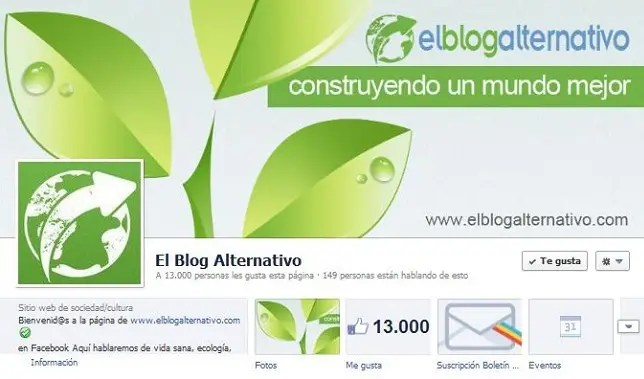 Facebook El Blog Alternativo 130001 - A 13.000 personas nos gusta la pagina de El Blog Alternativo en Facebook
