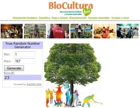 Ganadores Biocultura Barcelona 2013 - sorteo