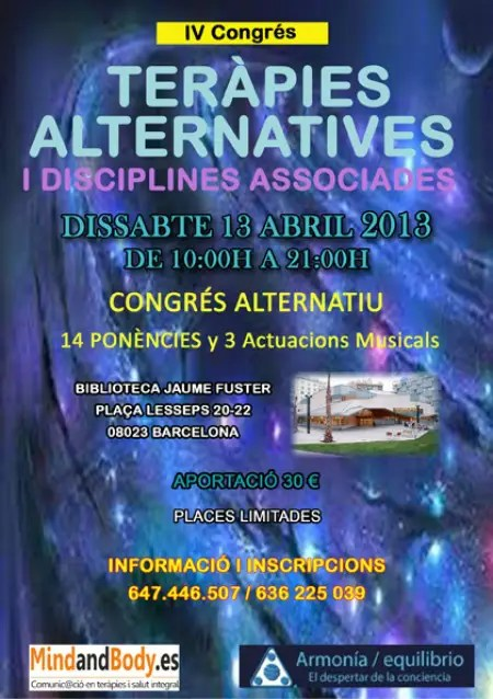 Terapias 2013 - IV Congreso de Terapias Alternativas en Barcelona