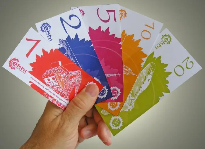 billetes - EKHI: moneda local en Bizkaia por una economía con valores. Campaña de crowdfunding