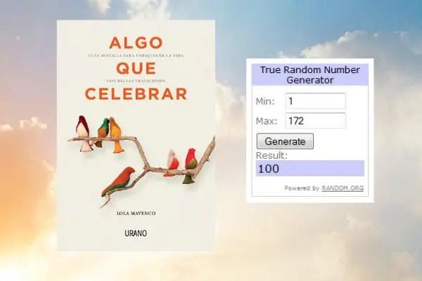 """Ganadores Algo que celebrar - GANADORAS del Sorteo de 3 ejemplares del libro """"ALGO QUE CELEBRAR"""""""