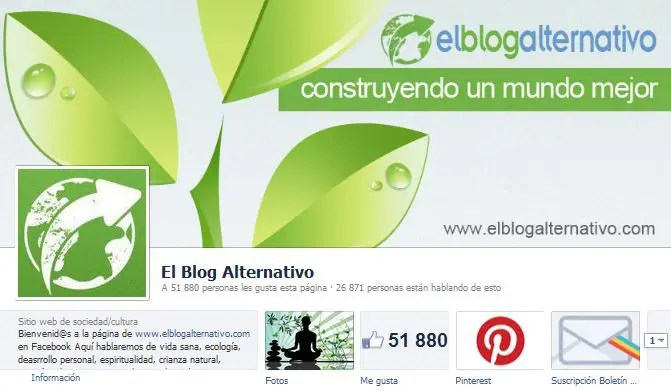 Facebook de El Blog Alternativo - Sobre la página en Facebook de El Blog Alternativo
