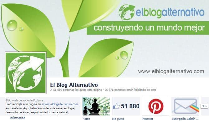 Facebook de El Blog Alternativo - Sobre la página en Facebook de El Blog Alternativo