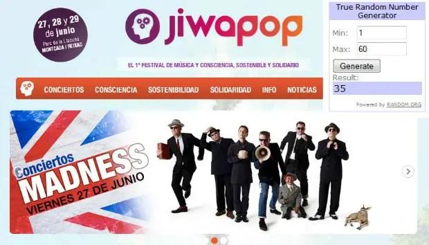 Ganadores Jiwapop - GANADORES del sorteo de entradas para JIWAPOP
