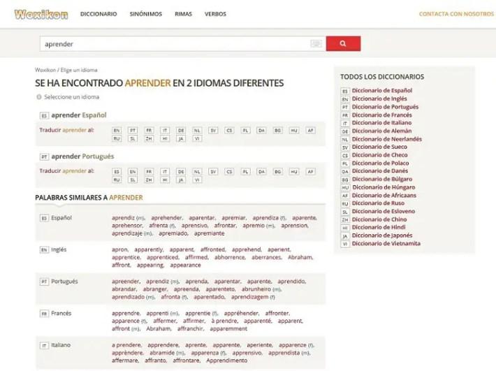 Wokikon - Woxikon, diccionario traductor online y mucho más