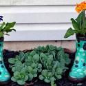 decorar terraza botas