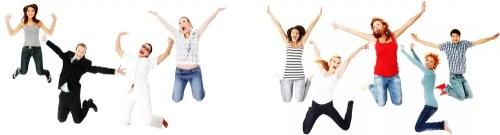 con energía - Jumping happy people