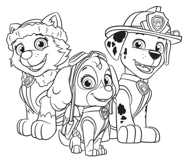 Dibujos De La Patrulla Canina Para Colorear Gratis