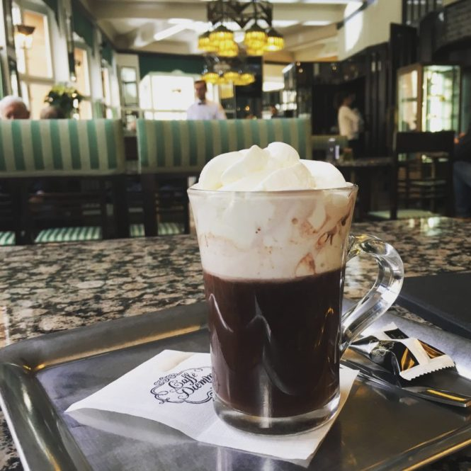 Kakao im Café Orient Prag