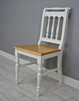 Stuhl Holzstuhl Küchenstuhl OTTO massiv weiß braun Holz ...