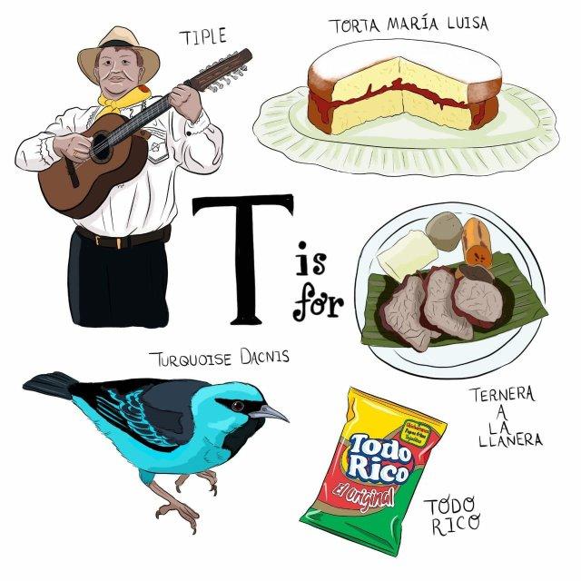 abecedario colombiano el bogotano t