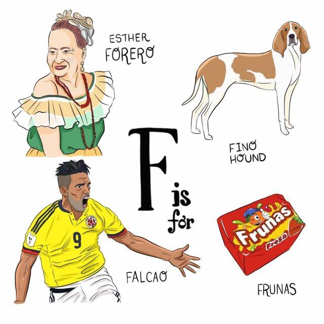 abecedario colombiano el bogotano f