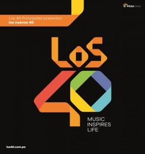 Arte de Prensa -Los 40 Principales presentan, los nuevos 40