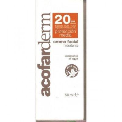 Crema facial con protección 20SPF