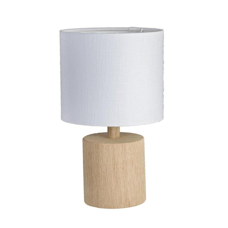 Egetrs bordlampe inc skrm  KS Lampeskrme