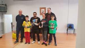 Primeros clasificados del I Campeonato de Málaga sub1800