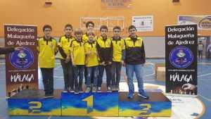 Algunos de nuestros jugadores en el Campeonato por edades de Málaga