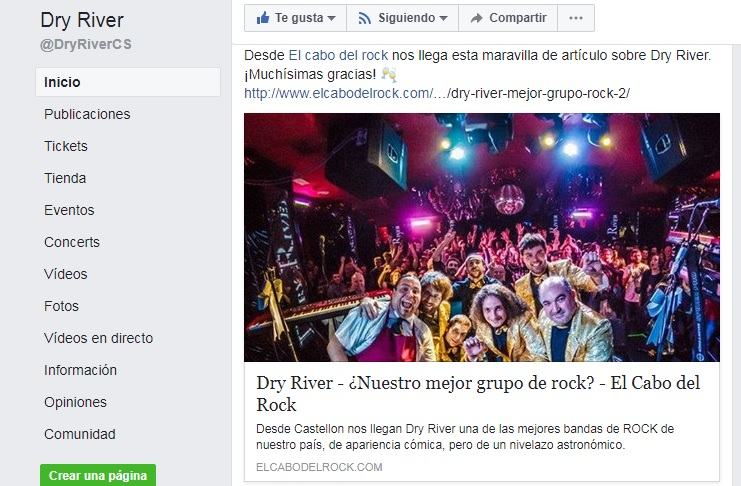 Dry river Facebook