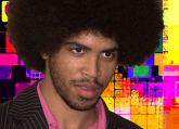 man with afro hair