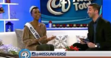 Miss Universo Zozibini Tunzi aprendió jerga dominicana en Nueva York