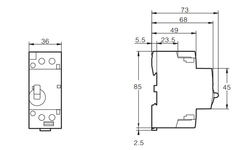 Contador modular de hogar del carril dinar de 2P 63A 2NO