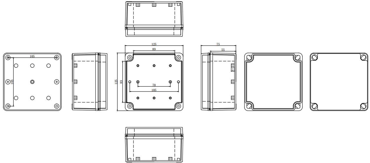 box industrial plastic waterproof box electrical junction box
