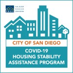 Logo for  city of San Diego COVID-19 housing assistance