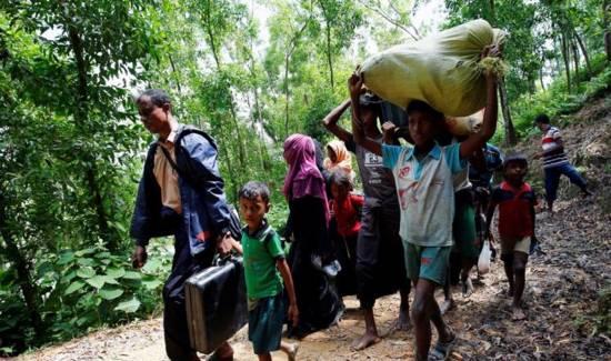 31 روهنجياً عالقون على الحدود الهندية البنجالية