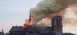 اخبار عاجلة  فرنسا  حريق كبير يلتهم كاتدرائية نوتردام العريقة في باريس