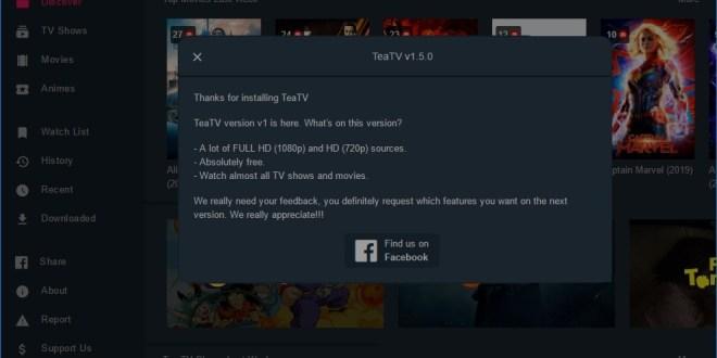 برنامج TeaTV  للكمبيوتر … لمتابعين لأحدث الأفلام والمسلسلات