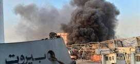 """انفجار هائل في بيروت  .. وكأنه """"يوم القيامة"""".."""