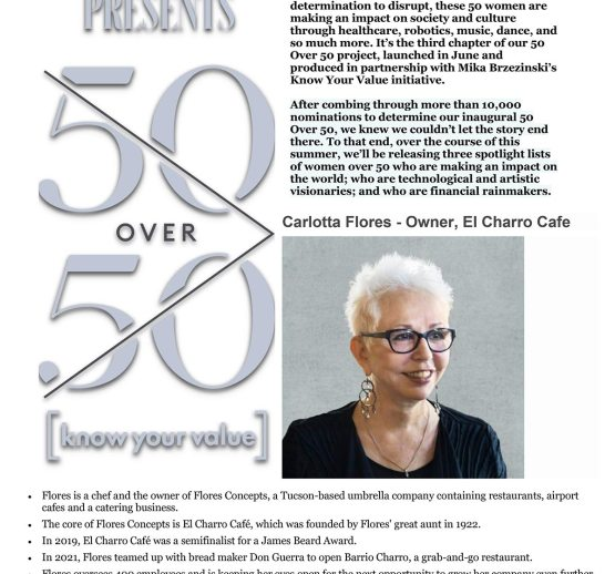 """Forbes """"50 Over 50"""" VISION"""