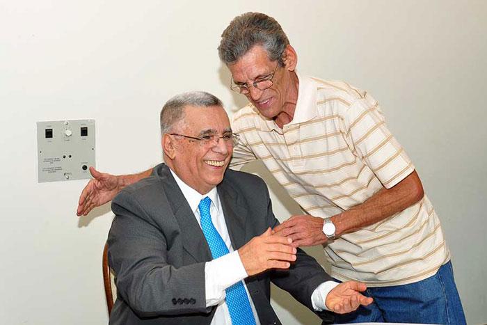 Elcio e Josmar Tótaro no lançamento de Memórias do Meu Tempo