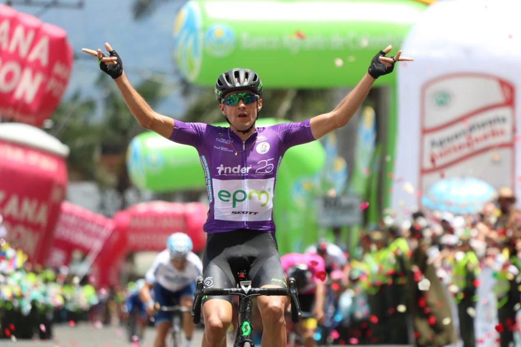 Juan Pablo Suárez se queda con la quinta etapa de la Vuelta a Colombia