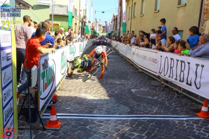 caída en sprint final
