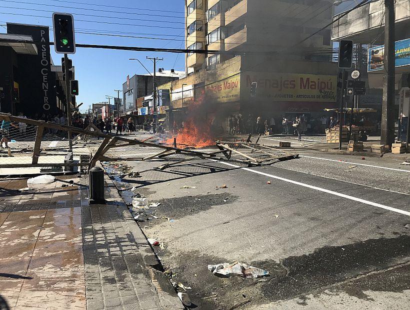 Concepción: Vendedores ambulantes y carabineros se vuelven a enfrentar en el centro de la ciudad
