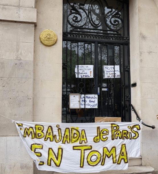 La protesta de los chilenos llega a Francia