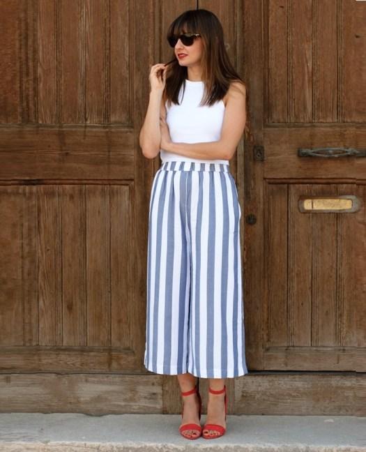 7 Ideas Para Combinar Un Pantalon A Rayas El Closet De Giuliana