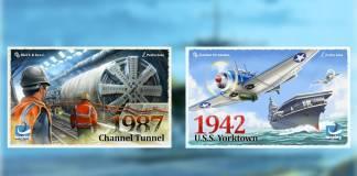 1987 Channel Tunnel & 1942 USS Yorktown
