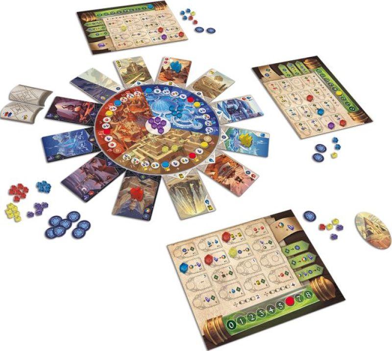 El Desafío de los Templos juego de mesa